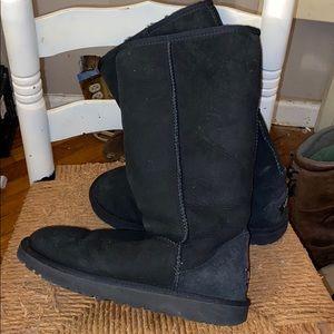 Ugg classic tall 5815 black boots shearling sz 8